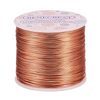 BENECREAT 20 Gauge 770FT Aluminum Wire Anodized Jewelry Craft Making Beading Floral Colored Aluminum Craft Wire - Copper