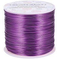 BENECREAT 20 Gauge 770FT Aluminum Wire Anodized Jewelry Craft Making Beading Floral Colored Aluminum Craft Wire - Purple