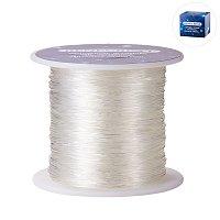 BENECREAT 150m/roll 0.8mm Crystal Thread Elastic Cord Stretch Bracelet Beads Fabric Crafting String (Clear)