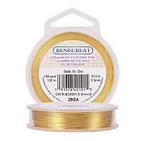 BENECREAT 28-Gauge Tarnish Resistant Gold Wire, 328-Feet/109-Yard
