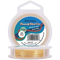 BENECREAT 28-Gauge Light Gold Copper Wire Tarnish Resistant Wire, 328-Feet/109-Yard, for Jewelry Craft Making