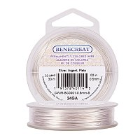 BENECREAT 24-Gauge Tarnish Resistant Silver Coil Wire, 98-Feet/33-Yard