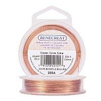 BENECREAT 22-Gauge Tarnish Resistant Copper Wire, 66-Feet/22-Yard