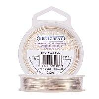 BENECREAT 22-Gauge Tarnish Resistant Silver Coil Wire, 66-Feet/22-Yard