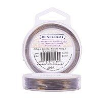 BENECREAT 20-Gauge Tarnish Resistant Antique Bronze Wire, 33-Feet/11-Yard