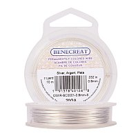 BENECREAT 20-Gauge Tarnish Resistant Silver Coil Wire, 33-Feet/11-Yard