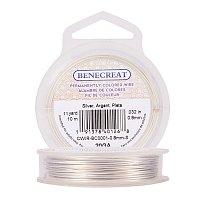 BENECREAT 20-Gauge Tarnish Resistant Silver Coil Wire, 33-Feet/11-Yard