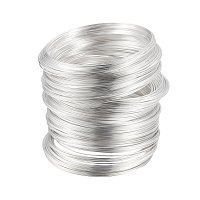 NBEADS 1000g Steel Bracelet Memory Wire, Silver, About 55mm Inner Diameter, Wire: 0.6mm, About 1100 circles/500g