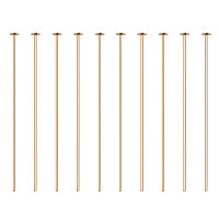 """BENECREAT 100PCS  Real Gold Plated Flat Head Pins 21 Gauge Satin Pins for DIY Jewelry Making Findings - 35mm (1.4"""") Long"""