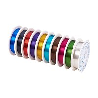 ARRICRAFT 1 Set 0.3mm Mixed Color Iron Wire jewelry Making Accessories, about 20m/roll, 10rolls/set