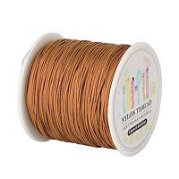 ARRICRAFT 1 Roll(about 90m, 100 Yards) 0.8mm Nylon Beading String Knotting Cord, Chinese Knotting Cord Nylon Shamballa Macrame Thread Beading Cord (Chocolate)