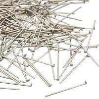 NBEADS 500pcs 24 Gauge 3/4 Inch Stainless Steel Headpins DIY Jewelry Findings