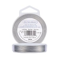 BENECREAT 300-Feet Tiger Tail Beading Wire 7-Strand Bead Stringing Wire (0.45mm/.0117inch)
