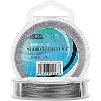 BENECREAT 7 Strands 325FT 0.3MM Stainless Steel Bead String Wire Tarnish Resistant Steel Wire for Necklace Bracelet Making