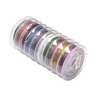 Nbeads 10m/roll 0.3mm Steel Tiger Tail Beading Wire for Jewelry Making Mixed Color