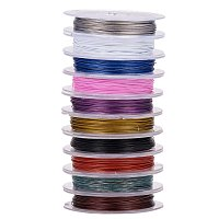 ARRICRAFT 10 Rolls 0.38mm Mixed Color Steel Tiger Tail Beading Wire, about 10m/roll