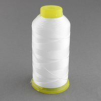 Arricraft Polyester Sewing Thread, White, 0.4mm; about 1100m/roll
