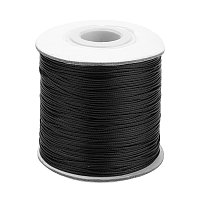 NBEADS 0.5mm 185 Yards Black Beading Cords and Threads Crafting Cord Waxed Polyester Thread for Jewelry Making Bracelet