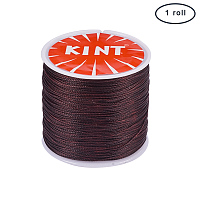 PandaHall Elite 1 Roll 0.5mm Round Waxed Cotton Cord Thread Beading String 116 Yards per Roll Spool for Jewelry Making and Macrame Supplies Brown
