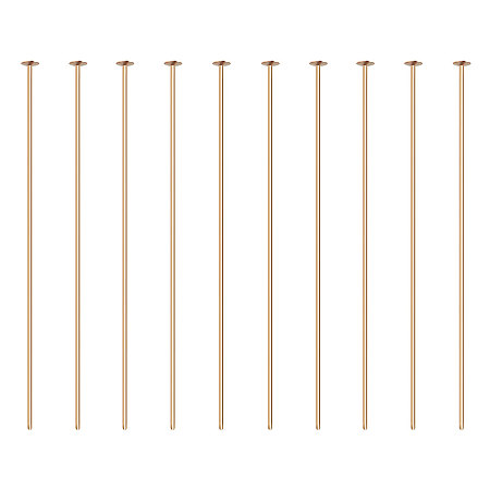 BENECREAT 100PCS  Real Gold Plated Flat Head Pins 21 Gauge Satin Pins for DIY Jewelry Making Findings - 45mm (1.8