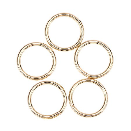 NBEADS 10PCS Golden  Sterling Silver Jump Rings, Gold Plated Close but Unsoldered Jump Rings for DIY Jewelry Making and Craft Ideas