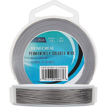 BENECREAT 7 Strands 260FT 0.45MM Stainless Steel Bead String Wire Tarnish Resistant Steel Wire for Necklace Bracelet Making