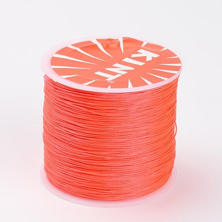 NBEADS 0.5mm 115 Yards Dark Orange Waxed Polyester Beading Cords and Threads Crafting Cord Waxed Thread for Jewelry Making Bracelet