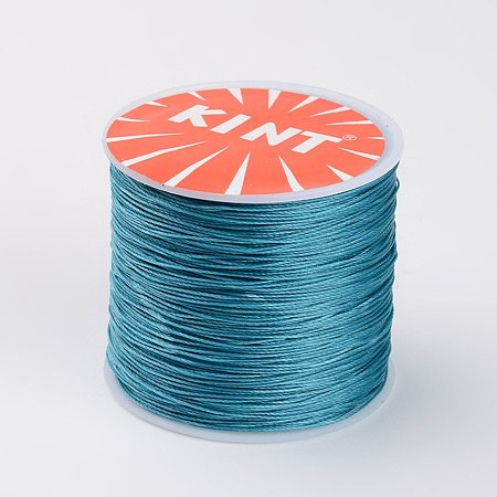 NBEADS 0.5mm 115 Yards Dark Cyan Beading Cords and Threads Crafting Cord Waxed Thread for Jewelry Making Bracelet