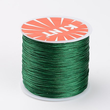 NBEADS 0.5mm 115 Yards Green Waxed Polyester Beading Cords and Threads Crafting Cord Waxed Thread for Jewelry Making Bracelet