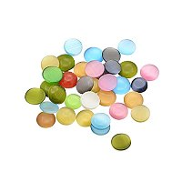 ARRICRAFT 1 Bag (About 200g) Mixed Half Round Dome Cat Eye Cabochons 9~11x3mm for Jewelry Making