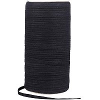 PandaHall Elite 220m/roll 7mm Wide Black Cotton Ribbon Gift Wrap Ribbon for Decorate Shoes, Pillows, Dress, Table Linens, Cards and Other DIY Crafts.