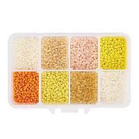 ARRICRAFT 1 Box About 8000pcs 12/0 2mm Yellow Mixed Round Glass Seed Beads