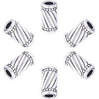 PandaHall Elite 100pcs Column Spacer Beads Tibetan Alloy Antique Silver Tube Jewelry Spacers for Bracelet Necklace DIY Jewelry Making, 11x6mm, Hole: 3mm