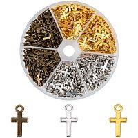 PandaHall Elite 450pcs Alloy Peace Cross Charms Pendants Jewelry Making DIY Charm Crafts Handmade 15.5x8.5x1mm