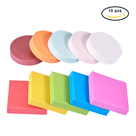 NBEADS 10Pcs Rubber Stamp Carving Blocks or Scrapbooking, Postcards, Invitation Cards, DIY Project
