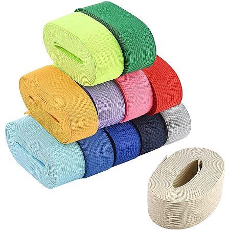 BENECREAT 12 Colors 32.8 Yards Ribbon Elastic 1