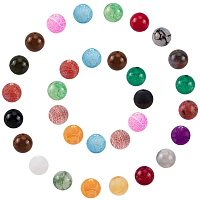 NBEADS Random Mixed Natural Agate Beads, 70g 8mm Round Gemstone Loose Spacer Beads for DIY Jewellery Crafts Making, Hole: 1mm