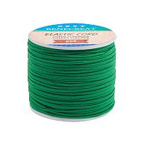 BENECREAT 2mm 55 Yards Elastic Cord Beading Stretch Thread Fabric Crafting Cord for Jewelry Craft Making (Green)
