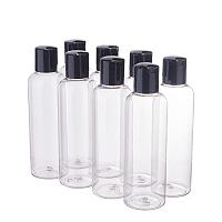 Plastic Bottles, with Clamshell Cap, Clear, 15.5cm; Bottle: 14.2x4.6cm; Capacity: 200ml