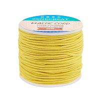 BENECREAT 2mm 55 Yards Elastic Cord Beading Stretch Thread Fabric Crafting Cord for Jewelry Craft Making (ChampagneYellow)