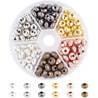 Iron Spacer Beads, Rondelle, Mixed Color, 8x5mm, Hole: 2mm, 180pcs/box