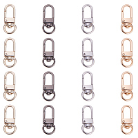 PandaHall Elite 16 Pieces Metal Lobster Claw Clasps Swivel Lanyards Trigger Snap Hooks Strap 34x14x6.5mm for Keychain, Key Rings, DIY Bags and Jewelry Findings 4 Colors
