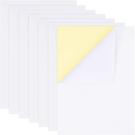 BENECREAT 60 Sheets A4 Size Glossy Adhesive Sticker Paper 8.3
