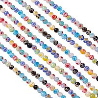 Pandahall Elite 10 Strands 4mm Millefiori Lampwork Glass Beads Round Spacer Bead for Jewelry Making (980pcs)