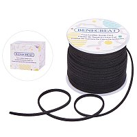 BENECREAT 3mm Faux Suede Cord Jewelry Making Flat Micro Fiber Lace Faux Suede Leather Cord (30 Yards, Black)