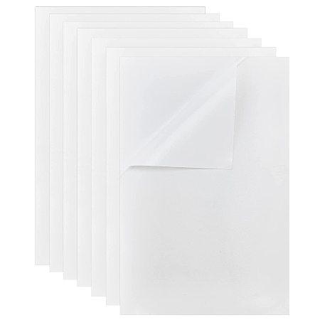 PANDAHALL ELITE Ribbon Sticker, Composite Adhesive Label, Rectangle, White, 28x18cm