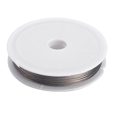 NBEADS 10 Rolls Tiger Tail Wire Spool, Stainless Wire, LightGrey, 0.45mm; about 50m/roll