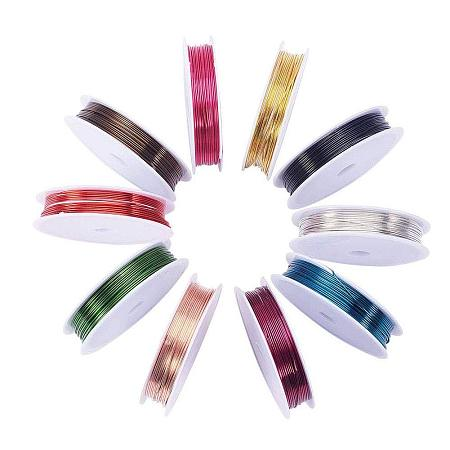 ARRICRAFT 10 Rolls (4m/Roll) Mixed Color 0.8 mm Copper Wire Jewelry Beading Wire for Crafting Beading Jewelry Making