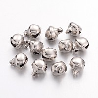 Arricraft About 100pcs Iron Craft Jingle Bells Mini Small Bell Charms Loose Beads or Christmas, Party Decorations Jewelry Making