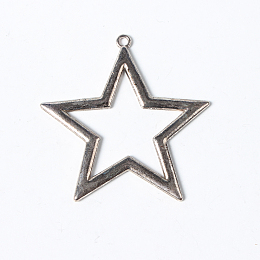 5Sets Tibetan Style Alloy Pendants Mixed Star Moon Sun Shapes Antique Silver